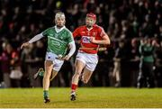 31 January 2015: Cian Lynch, Limerick, in action against Lorcan McLoughlin, Cork. Waterford Crystal Cup Final, Cork v Limerick. Mallow GAA Grounds, Mallow, Co. Cork Picture credit: Ramsey Cardy / SPORTSFILE