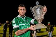 31 January 2015: Limerick captain Donal O'Grady with the Waterford Crystal Cup Final after his side's win. Waterford Crystal Cup Final, Cork v Limerick. Mallow GAA Grounds, Mallow, Co. Cork Picture credit: Ramsey Cardy / SPORTSFILE