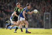 1 February 2015; Mark Griffin, Kerry, in action against Donal Vaughan, Mayo. Allianz Football League, Division 1, Round 1, Kerry v Mayo. Fitzgerald Stadium, Killarney, Co. Kerry.  Picture credit: Brendan Moran / SPORTSFILE