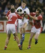 29 October 2007; Diarmuid Connolly, St Vincent's, in action against Martin Cahill, 2 and Declan Cahill, St Brigid's. Dublin Club Football Championship Final, St Vincent's v St Brigid's, Parnell Park, Dublin. Picture credit; Ray Lohan / SPORTSFILE