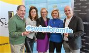 "3 February 2015; Swim Ireland announced details of ""Swim for a Mile 2015"" at The Pavillion at Trinity College Dublin earlier this morning. In attendance at the launch are, from left to right, Sam McGuinness, Simon Community, Erica Roseingrave, Public Affairs and Communications Manager, Coca-Cola, Sarah Keane, CEO, Swim Ireland, Dominique McMullan and Conor Pope. Trinity College, Dublin. Picture credit: Ramsey Cardy / SPORTSFILE"