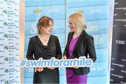 "3 February 2015; Swim Ireland announced details of ""Swim for a Mile 2015"" at The Pavillion at Trinity College Dublin earlier this morning. In attendance at the launch are Joyce Hickey, Health Editor, The Irish Times, left, and Sarah Keane, CEO, Swim Ireland. Trinity College, Dublin. Picture credit: Ramsey Cardy / SPORTSFILE"