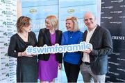 "3 February 2015; Swim Ireland announced details of ""Swim for a Mile 2015"" at The Pavillion at Trinity College Dublin earlier this morning. In attendance at the launch are, from left, Joyce Hickey, Health Editor, The Irish Times, Sarah Keane, CEO, Swim Ireland, Dominique McMullan, and Conor Pope. Trinity College, Dublin. Picture credit: Ramsey Cardy / SPORTSFILE"