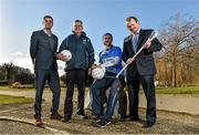 """4th February 2015: ESB, Official Energy Partner to the GAA, teamed up with Longford Slashers footballer Mark Smith, club treasurer Tom Mulligan, ESB Corporate Sustainability Coordinator Brian Gray and John Harrington, Director, FutureFit to reveal details of the ESB """"EnergyFit"""" programme in association with FutureFit. Longford Slashers GAA Club, one of the participants, is projected to save a total of €11,697 in Year 1 with continuing projected long-term savings which can be reinvested in the club's development. In attendance at the launch are John Harrington, Director, FutureFit, left, Longford Slashers club treasurer Tom Mulligan, footballer Mark Smith, and ESB Corporate Sustainability Coordinator Brian Gray. ESB FutureFit Regional Launch, St.Judes GAA Club, Wellington Lane, Templeogue, Dublin. Picture credit: Barry Cregg / SPORTSFILE"""