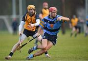 5 February 2015; Cillian Buckley, UCD, in action against Donal Breathnach, DCU. Independent.ie Fitzgibbon Cup, Group A, Round 2, UCD v DCU. University College Dublin, Dublin. Picture credit: Pat Murphy / SPORTSFILE