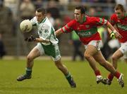 11 November 2007; John McGrath, Baltinglass, in action against Barry Mernagh, Rathnew. Wicklow Senior Football Championship Final Replay, Baltinglass v Rathnew, County Park, Aughrim, Co. Wicklow. Picture credit; Matt Browne / SPORTSFILE