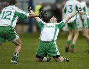11 November 2007; Baltinglass' Shane Wall and John McGrath, 12, celebrate at the final whistle. Wicklow Senior Football Championship Final Replay, Baltinglass v Rathnew, County Park, Aughrim, Co. Wicklow. Picture credit; Matt Browne / SPORTSFILE