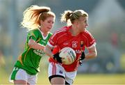 8 February 2015; Emma Farmer, Cork, in action against Ciara Murphy, Kerry. TESCO HomeGrown Ladies National Football League, Division 1, Round 2, Cork v Kerry, Cloughduv, Cork. Picture credit: Paul Mohan / SPORTSFILE