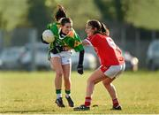 8 February 2015; Sarah Houlihan, Kerry, in action against Roisin O'Sullivan, Cork. TESCO HomeGrown Ladies National Football League, Division 1, Round 2, Cork v Kerry, Cloughduv, Cork. Picture credit: Paul Mohan / SPORTSFILE