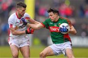 8 February 2015; Jason Doherty, Mayo, in action against Darren McCurry, Tyrone. Allianz Football League, Division 1, Round 2, Mayo v Tyrone, Elverys MacHale Park, Castlebar, Co. Mayo. Picture credit: David Maher / SPORTSFILE