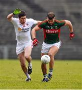8 February 2015; Aidan O'Shea, Mayo, in action against Sean Cavanagh, Tyrone. Allianz Football League, Division 1, Round 2, Mayo v Tyrone, Elverys MacHale Park, Castlebar, Co. Mayo. Picture credit: David Maher / SPORTSFILE