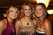 10 November 2007; Anna Geary, left, Milford, Cork, Niamh Mulcahy, Ahane, Limerick, and Eileen O'Brien, right, Granagh, Limerick, at the Energise Sport Camogie All-Star Awards 2007 in association with O'Neills. Citywest Hotel, Conference, Leisure & Golf Resort, Saggart, Co. Dublin. Picture credit: Ray McManus / SPORTSFILE