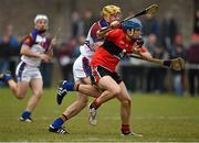 10 February 2015; Shane O'Donnell, UCC, in action against Dan Morrissey, UL. Independent.ie Fitzgibbon Cup, Group B, Round 3, UCC v UL, Mardyke, Cork. Picture credit: Barry Cregg / SPORTSFILE