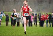 11 February 2015; Emma O'Brien, East Dominican College, Wicklow, on her way to winning the Intermediate Girl's race at the GloHealth Leinster Schools' Cross Country Championships. Santry Demesne, Santry, Co. Dublin. Picture credit: Barry Cregg / SPORTSFILE