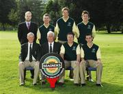 12 September 2007; The team and officials of Moyola Park Golf Club, Derry, back row, left to right, Alan Andrews, Magners; Damien McCusker, Mark Hammond and Luke Lennox front row, left to right, Tony White, President, Brendan Gates, Captain, Randal Evans, Team Captain and Chris Selfridge before the Magners Barton Shield Semi-Finals. Magners Cups and Shields Finals 2007, Shandon Park Golf Club, Belfast, Co. Antrim. Picture credit: Ray McManus / SPORTSFILE