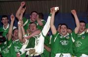 13 April 2000; Limerick players celebrate following the Munster Under-21 Football Championship Final match between Waterford and Limerick at Fraher Field in Dungarvan, Waterford. Photo by Matt Browne/Sportsfile