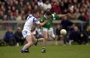 13 April 2000; Pat Ahearne of Limerick is tackled by Michael Ahearne of Waterford durinh the Munster Under-21 Football Championship Final match between Waterford and Limerick at Fraher Field in Dungarvan, Waterford. Photo by Matt Browne/Sportsfile
