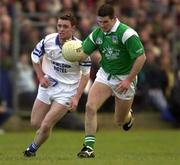 13 April 2000; Pat Ahearne of Limerick in action against Michael Ahearne of Waterford during the Munster Under-21 Football Championship Final match between Waterford and Limerick at Fraher Field in Dungarvan, Waterford. Photo by Matt Browne/Sportsfile