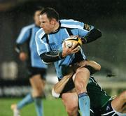 30 November 2007; Graeme Morrison, Glasgow Warriors, is tackled by John Muldoon, Connacht Rugby. Magners League, Connacht Rugby v Glasgow Warriors, Sportsgrounds, Galway. Picture credit: Matt Browne / SPORTSFILE
