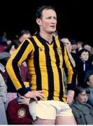 18 April 1982; Kilkenny captain Brian Cody on the podium before lifting the National Hurling League Trophy.1981/82 National Hurling League Final, Kilkenny v Wexford. Croke Park, Dublin. Picture credit: SPORTSFILE