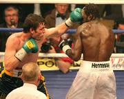 8 December 2007; John Duddy in action against Howard Eastman. Hunky Dory Fight Night, John Duddy.v.Howard Eastman, Conference Centre, Kings Hall, Belfast, Co. Antrim. Picture credit: Peter Morrison / SPORTSFILE