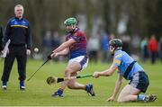 18 February 2015; Conor Martin, UL, watched closely by manager Brian Lohan, in action against Conor O'Shea, UCD. Independent.ie Fitzgibbon Cup Quarter-Final, UL v UCD. University of Limerick, Limerick. Picture credit: Diarmuid Greene / SPORTSFILE