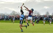 18 February 2015; Jason Forde, UL, in action against Joe Lyng, UCD. Independent.ie Fitzgibbon Cup Quarter-Final, UL v UCD. University of Limerick, Limerick. Picture credit: Diarmuid Greene / SPORTSFILE
