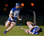 21 February 2015; Michael Walsh, Waterford, in action against Cahir Healy, Laois. Allianz Hurling League Division 1B, Round 2, Waterford v Laois. Fraher Field, Dungarvan, Co. Waterford. Picture credit: Stephen McCarthy / SPORTSFILE