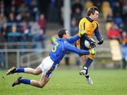 20 January 2008; Conor Mortimer, DCU, in action against Diarmuid Masterson, Longford. O'Byrne Cup Semi-Final, Longford v DCU, Pearse Park, Longford. Picture credit; David Maher / SPORTSFILE