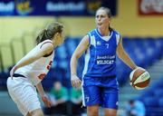 13 January 2008; Michelle Aspell, Waterford Wildcats, in action against Sarah Woods, DCU Mercy. Women's SuperLeague National Cup Semi-Final 2008, Waterford Wildcats v DCU Mercy, Dublin, National Basketball Arena, Tallaght, Dublin. Picture credit: Stephen McCarthy / SPORTSFILE