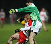 23 January 2008; Colin Devlin, Derry, in action against Declan O'Reilly, Fermanagh. McKenna Cup semi-final, Derry v Fermanagh, Healy Park, Omagh, Co. Tyrone. Picture credit; Oliver McVeigh / SPORTSFILE