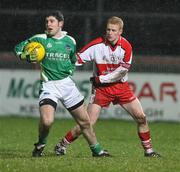 23 January 2008; Declan O'Reilly, Fermanagh, in action against Colin Devlin, Derry. McKenna Cup semi-final, Derry v Fermanagh, Healy Park, Omagh, Co. Tyrone. Picture credit; Oliver McVeigh / SPORTSFILE
