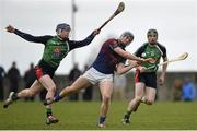27 February 2015; Jason Forde, UL, in action against Paul Flaherty, left, and Joe Campion, LIT. Independent.ie Fitzgibbon Cup Semi-Final, University of Limerick v Limerick IT. Limerick IT, Limerick. Picture credit: Diarmuid Greene / SPORTSFILE