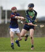 27 February 2015; Paul FLaherty, LIT, in action against Tommy Heffernan, UL. Independent.ie Fitzgibbon Cup Semi-Final, University of Limerick v Limerick IT. Limerick IT, Limerick. Picture credit: Diarmuid Greene / SPORTSFILE
