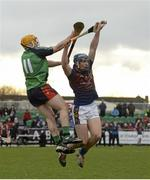27 February 2015; Jason Forde, UL, in action against Sean O'Brien, LIT. Independent.ie Fitzgibbon Cup Semi-Final, University of Limerick v Limerick IT. Limerick IT, Limerick. Picture credit: Diarmuid Greene / SPORTSFILE