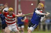 27 February 2015; Martin O'Neill, WIT, in action against John Cronin, CIT. Independent.ie Fitzgibbon Cup Semi-Final, Cork IT v Waterford IT. Limerick IT, Limerick. Picture credit: Diarmuid Greene / SPORTSFILE