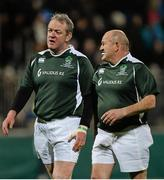 28 February 2015; Mick Galwey, left, and Peter Clohessy, Ireland Legends. Ireland legends v England legends.  Donnybrook Stadium, Donnybrook, Dublin. Picture credit: Piaras Ó Mídheach / SPORTSFILE