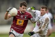 1 March 2015; Lorcan Smith, Westmeath, in action against Ciarán Fitzpatrick, Kildare. Allianz Football League Division 2 Round 3, Kildare v Westmeath. St Conleth's Park, Newbridge, Co. Kildare. Picture credit: Piaras Ó Mídheach / SPORTSFILE