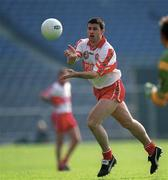 7 May 2000; Fergal McCusker of Derry during the Church & General National Football League Final between Derry and Meath at Croke Park in Dublin. Photo by Ray McManus/Sportsfile