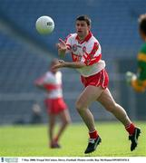 7 May 2000; Fergal McCusker, Derry, Football. Picture credit; Ray McManus/SPORTSFILE