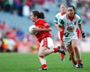 23 September 2007; Geraldine O'Flynn, Cork, in action against, Mayo. TG4 All-Ireland Ladies Senior Football Championship Final, Cork v Mayo, Croke Park, Dublin. Picture credit; Matt Browne / SPORTSFILE