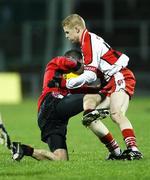 26 January 2008; Darren O'Hanlon, Down, in action against Colin Devlin,Derry. Dr. McKenna Cup Final, Derry v Down, Casement Park, Belfast, Co. Antrim. Picture credit: Oliver McVeigh / SPORTSFILE