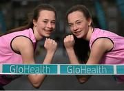 4 March 2015; Mount Sackville athletes and twins Jayne, left, and Sarah Nyhan in attendance at a GloHealth All Ireland Schools' Cross Country Championships Preview. Clongowes Woods College, Clane, Co. Kildare. Picture credit: Stephen McCarthy / SPORTSFILE