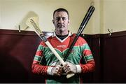 "4 March 2015; Major League Baseball Star Brian Schneider poses for a portrait after a hurling game against St. Patricks Ballyragget as part of ""TheToughest Trade"", a documentary film commissioned by AIB. Airing on TV3 at 10pm on March 12th, the documentary will see Jackie Tyrell and Aaron Kernan swap their GAA clubs for the professional sports of baseball and football while former professional athletes Brian Schneider and David Bentley experience the life of an amateur GAA club player with James Stephens (Kilkenny) and Crossmaglen Rangers (Armagh). For exclusive content and to see why the AIB Club Championships are #TheToughest follow us @AIB_GAA and on Facebook at facebook.com/AIBGAA. Ballyragget, Kilkenny. Picture credit: Ramsey Cardy / SPORTSFILE"