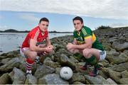 4 March 2015; Cork's Mark Collins, left, and Kerry's Stephen O'Brien in attendance at an Allianz GAA Regional Media Day. Imperial Hotel, Cork. Picture credit: Matt Browne / SPORTSFILE