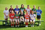 4 February 2008; Niall O'Gorman, General Manager, Suzuki Ireland, with players from Division One, back, from left, Donna Berry, Kildare, Gillian Joyce, Galway, Bernie Deegan, Laois, Irene Munnelly, Meath, Sinead McVeigh, Tyrone, Linda O'Connor, Kerry and Denise Masterson, Dublin, with front, from left, Rena Buckley, Cork, Fiona McHale, Mayo, Caoimhe Marley, Armagh and Niamh Kindlon, Monaghan, at the launch of the 2008 Suzuki Ladies' National Football League. Croke Park, Dublin. Picture credit: Brendan Moran / SPORTSFILE