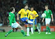 6 February 2008; Diego Ribas, Brazil, in action against Aiden McGeady, Republic of Ireland. International Friendly, Republic of Ireland v Brazil, Croke Park, Dublin. Picture credit; David Maher / SPORTSFILE