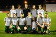 7 February 2008; The Republic of Ireland team. Back row, from left to right, Stefaine Curtis, Sharon Boyle, Emma Byrne, Alisha Moran, and Yvonne Tracy. Front row, from left to right, Emma Griffin, Aine O'Gorman, Niamh Fahey, Ciara Grant, Kate Taylor and Michele O'Brien. International Friendly, Republic of Ireland v Arsenal, Dalymount Park, Dublin. Picture credit; Stephen McCarthy / SPORTSFILE