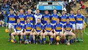 10 February 2008; The Tipperary team. Back row, from left, Lar Corbett, Shane Maher, Eamon Buckley, Brendan Cummins, Ryan O'Dwyer, Conor O'Mahony, Pat Kerwick, Paul Curran and Declan Fanning. Front row, from left, Pa Burke, Benny Dunne, Eoin Kelly, Joe Ceaser, Eamon Corcoran and John O'Brien. Allianz National Hurling League, Division 1B, Round 1, Tipperary v Offaly, Semple Stadium, Thurles, Co. Tipperary. Picture credit; Stephen McCarthy / SPORTSFILE