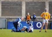 10 February 2008; Stuart Mullen, Dublin, receives treatment during game. Allianz National Hurling League, Division 1A, Round 1, Dublin v Antrim, Parnell Park, Dublin. Picture credit; Caroline Quinn / SPORTSFILE